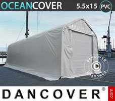 Leichtbauhalle Oceancover 5,5x15x4,1x5,3m, PVC